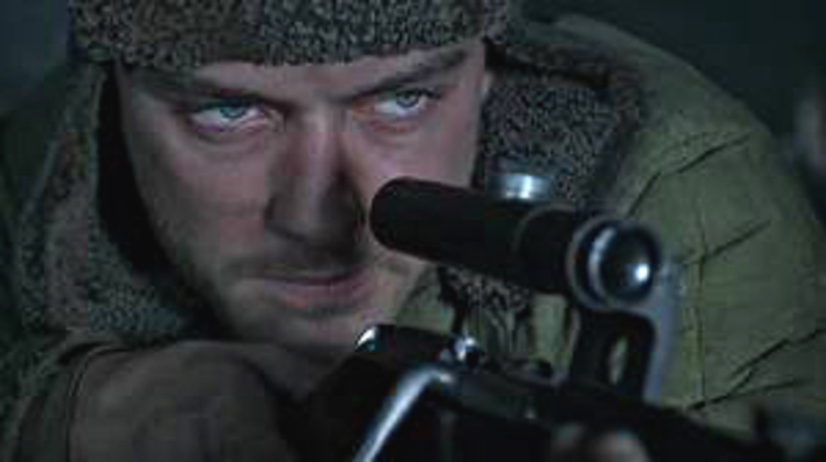 The sniper, Vassili Zaitsev, at work