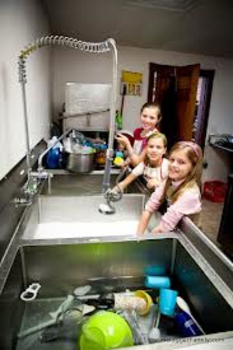 In large families, there are strict gender demarcation between boys &girls.There is no equal parity as far as gender goes. Girls oftentime assume most of the chores &/or household responsibilities Boys are assigned as little chores as possible.