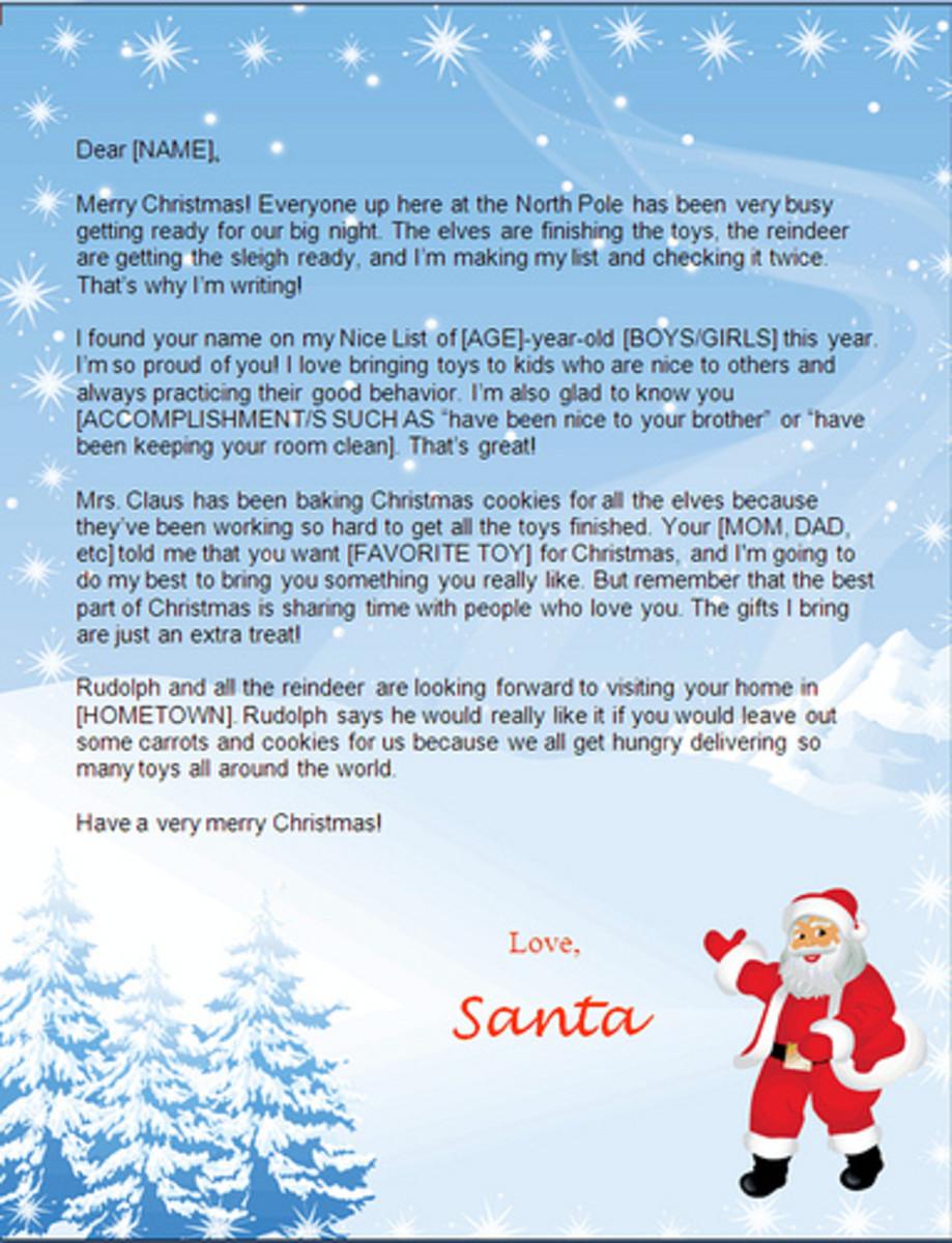 Create Free Santa Letters Online