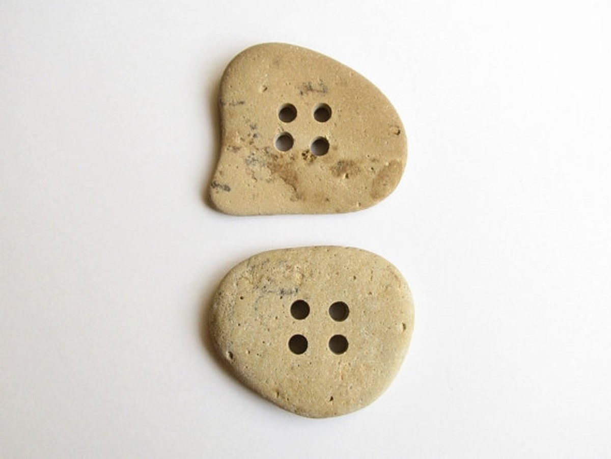 Stone buttons by StoneHood on Etsy.