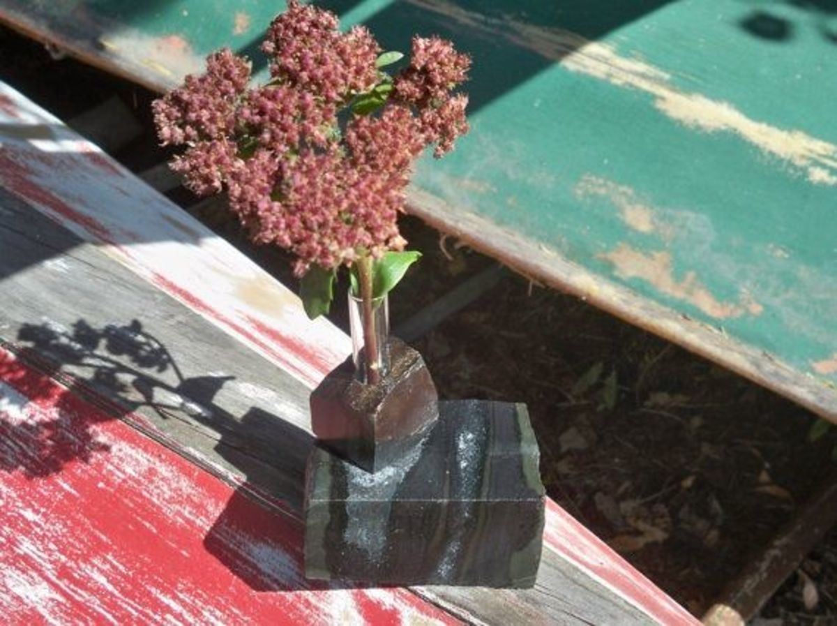 Bud vase made from rock by Naturallyuniquerock.