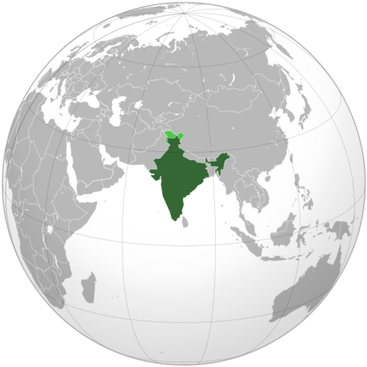 Map showing India