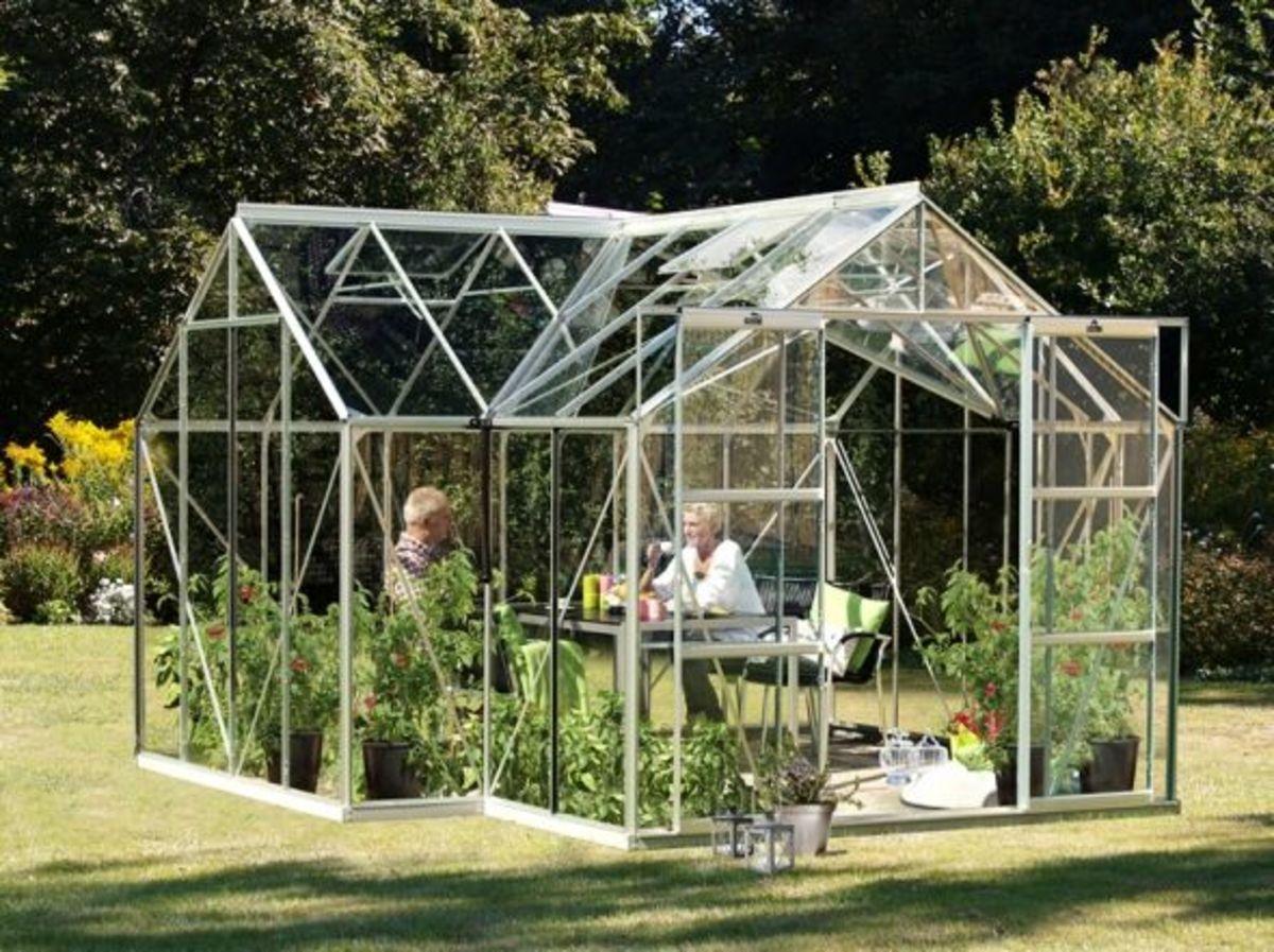 Vitavia Sirius 1300 Orangery Greenhouse 12x12 (Silver) Float Glass