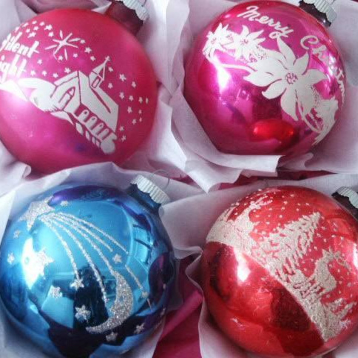 Shiny-Brite Vintage Christmas Ornaments