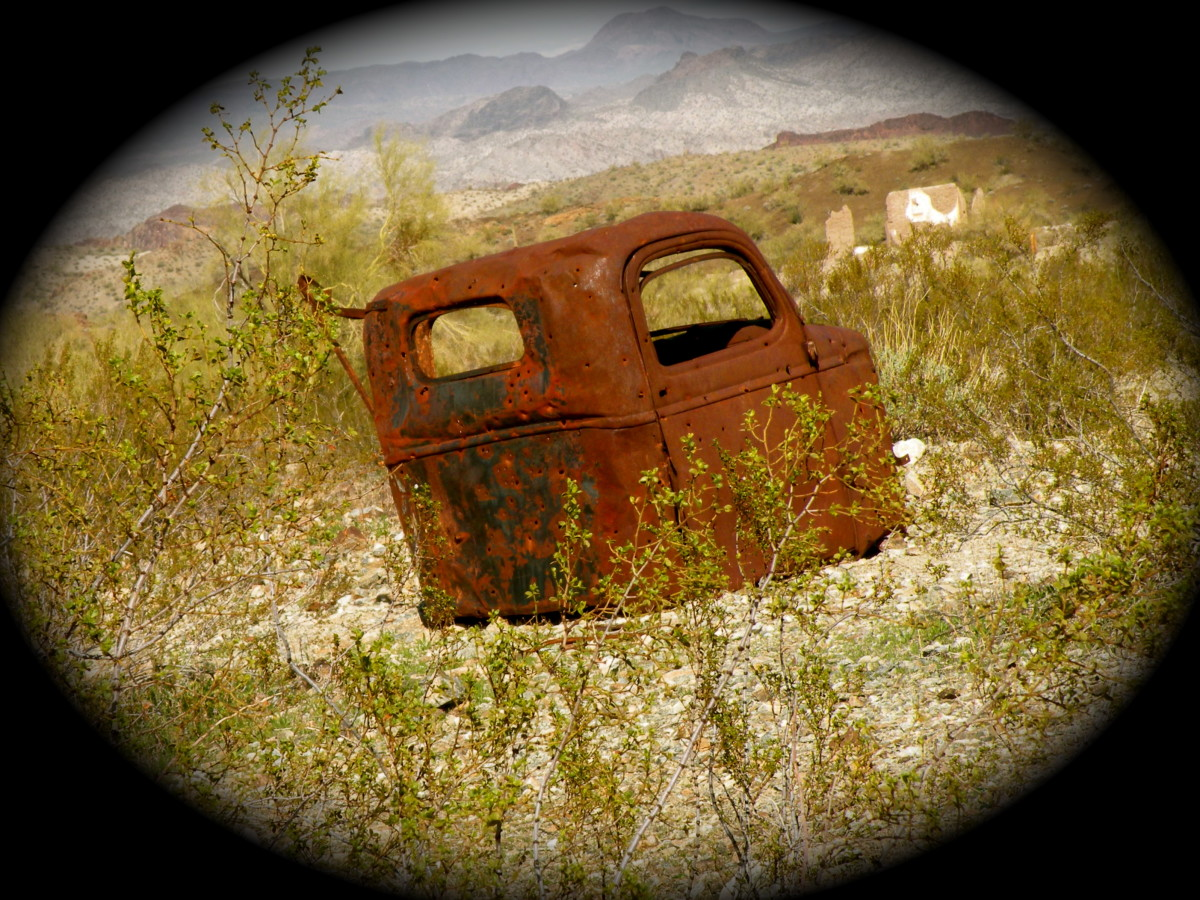 This is another old rusty truck that was abandoned in Swansea Ghost Town in Arizona.