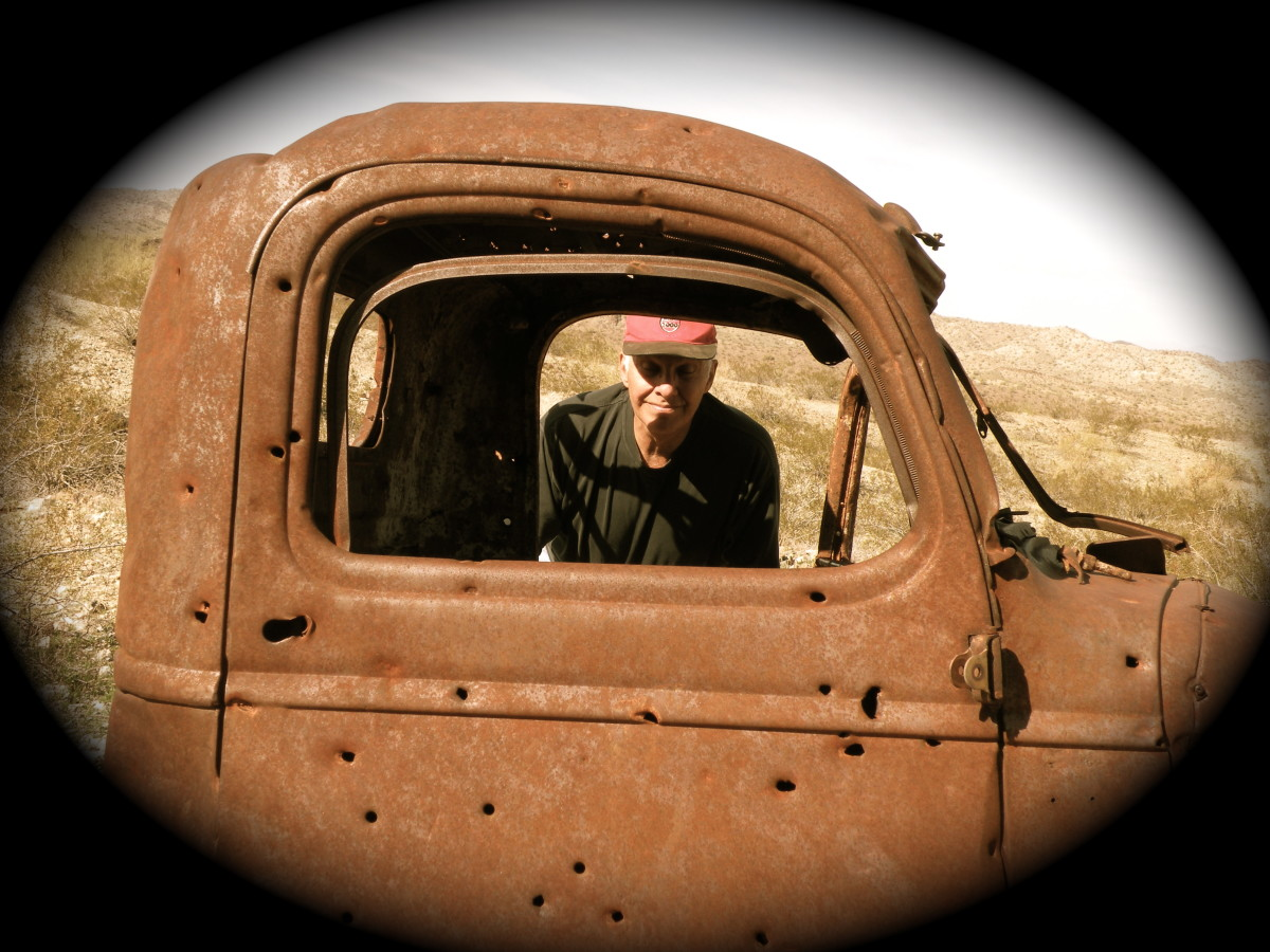 This old truck was full of bullet holes - lookout!