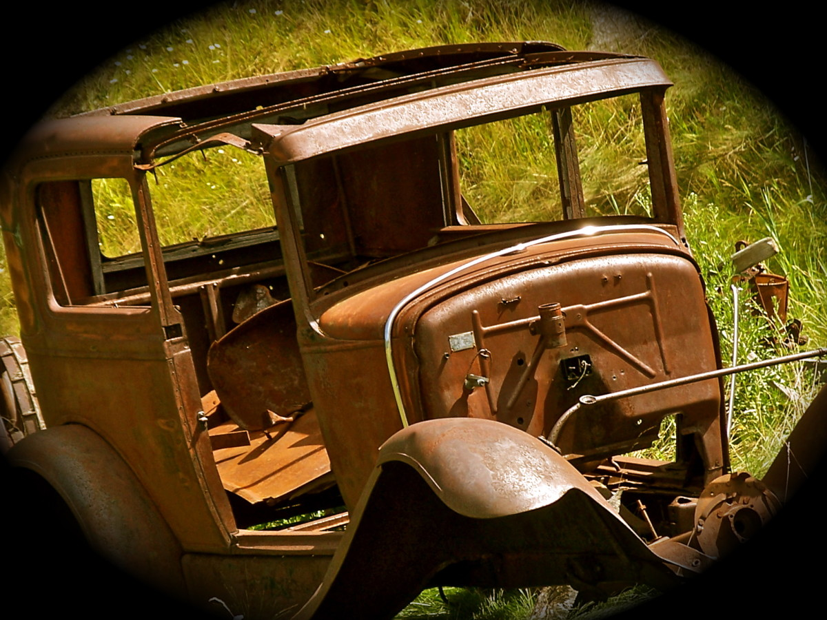 This car was along a scenic back road in the Black Hills of South Dakota.