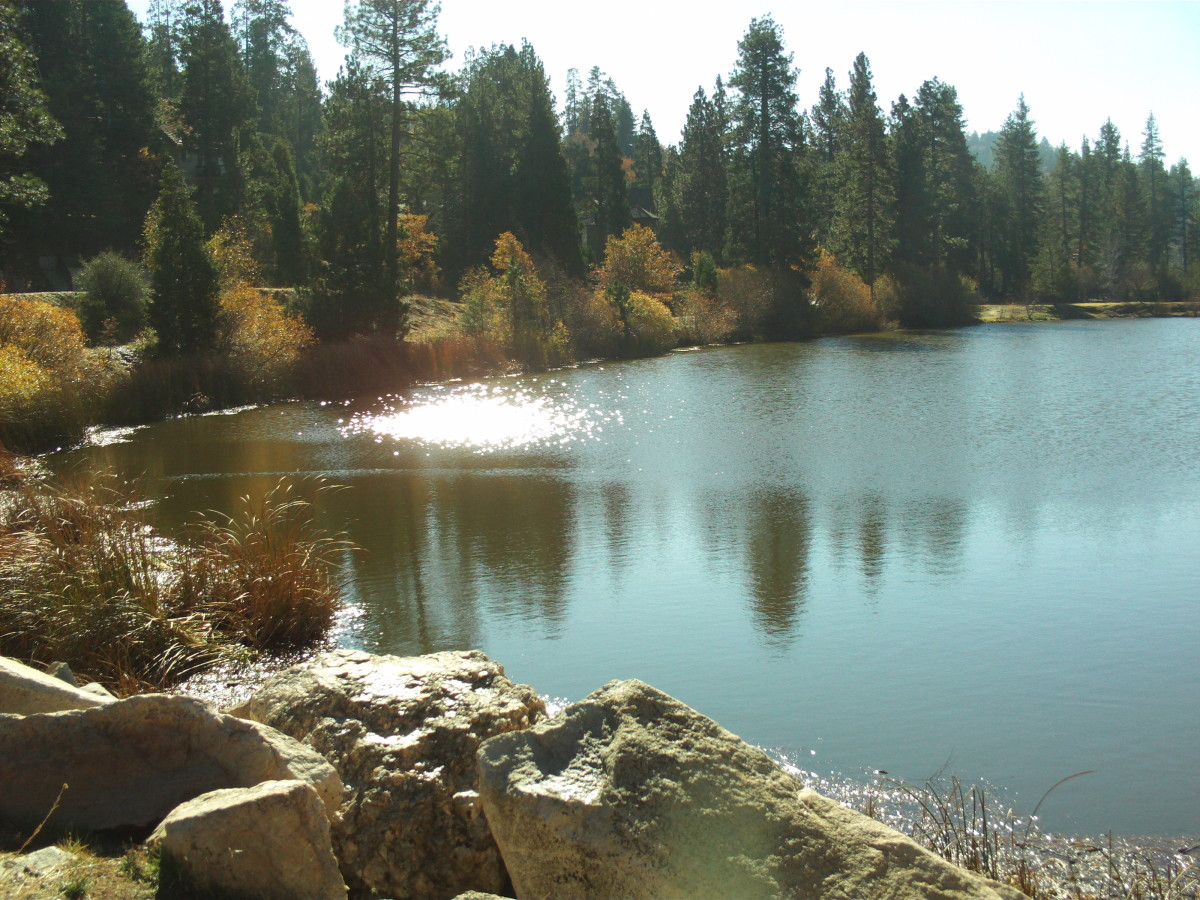 The shimmer of Grass Valley Lake!