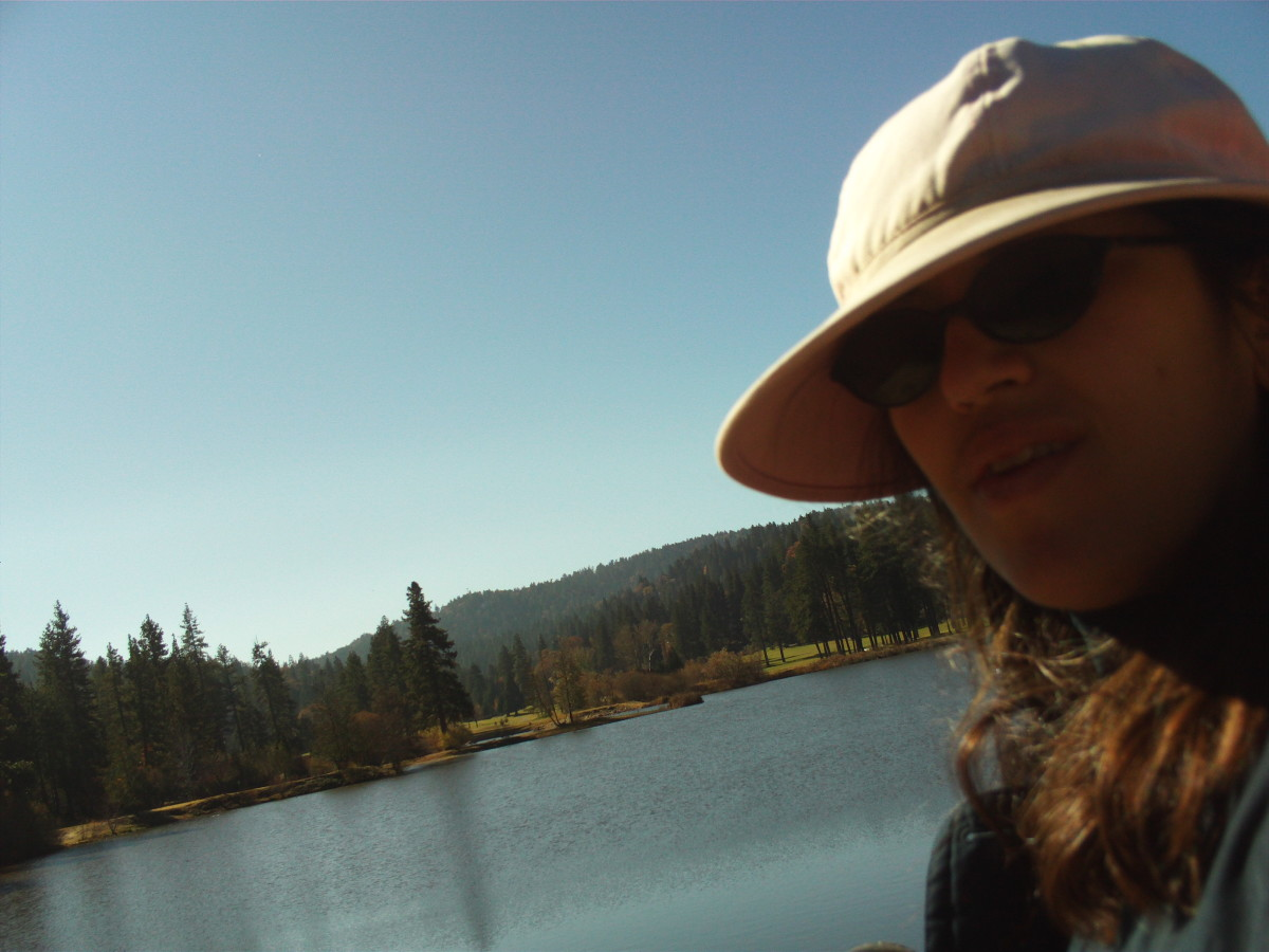 Self-portrait taken out at Grass Valley Lake in the San Bernardino Mountains.