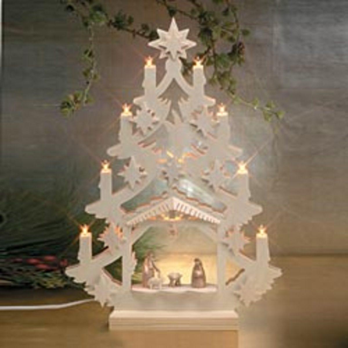 uno alla volta nativity set in pure white