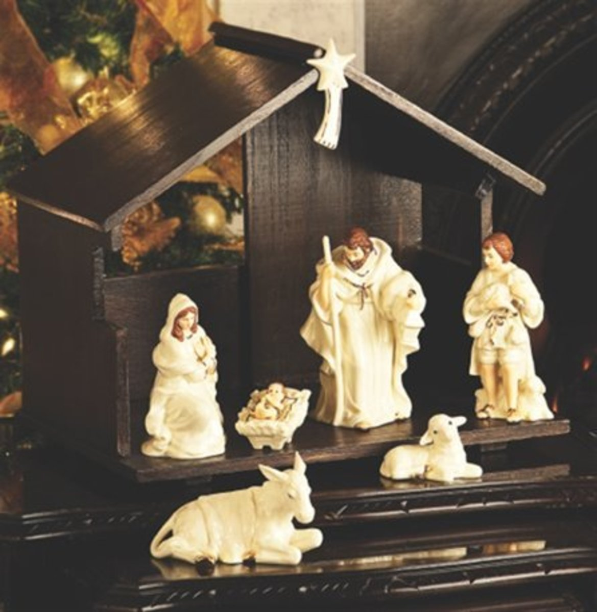 Belleek Nativity Set