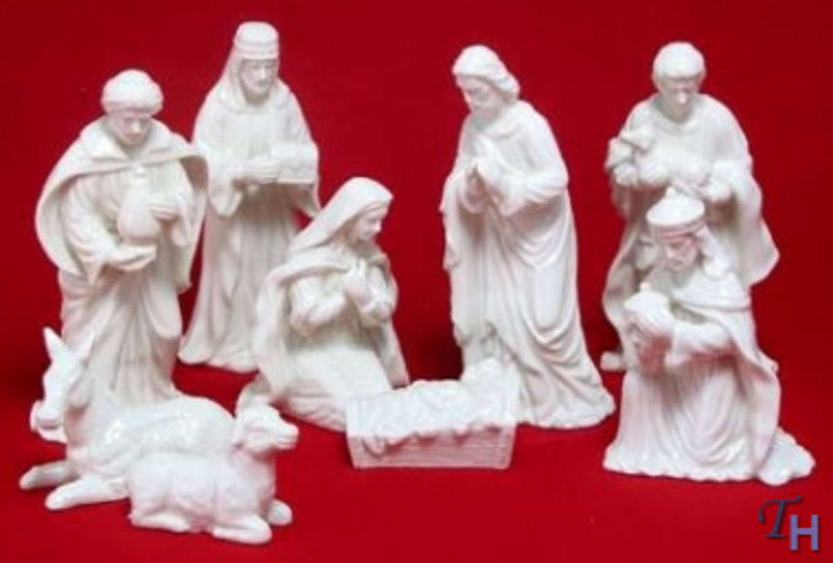 Capturing the spirit of the holiday season, this serene fine-porcelain nativity scene set from Mikasa is sure to become a treasured family heirloom to be brought out and displayed year after year. This 9-piece set includes Mary, Joseph, baby Jesus, t