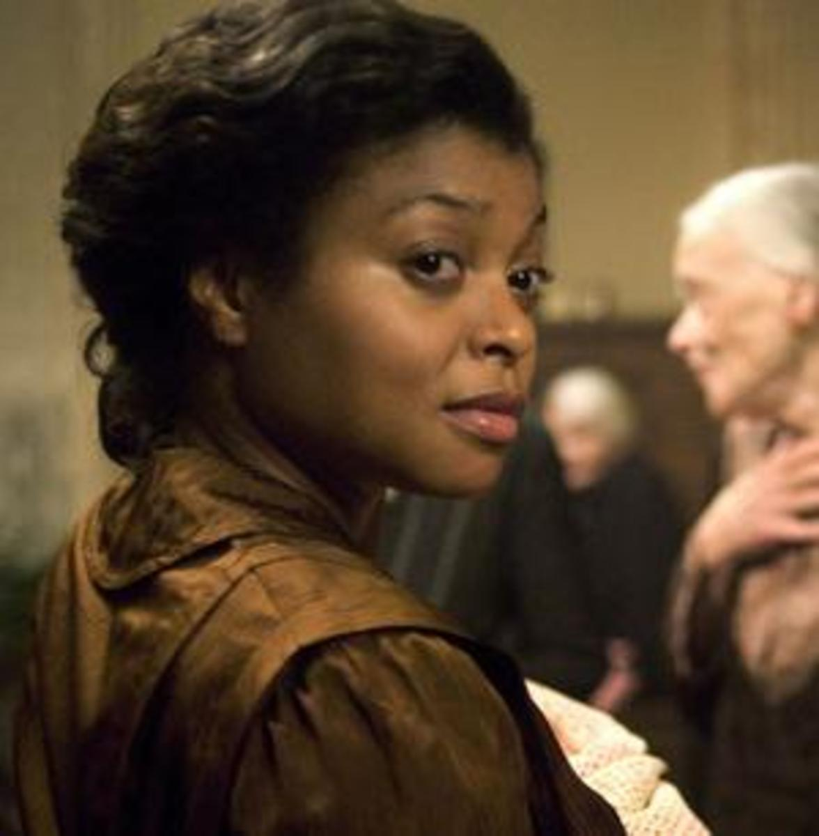 Taraji P. Henson as the character Queenie in The Curious Case of Benjamin Button the movie.