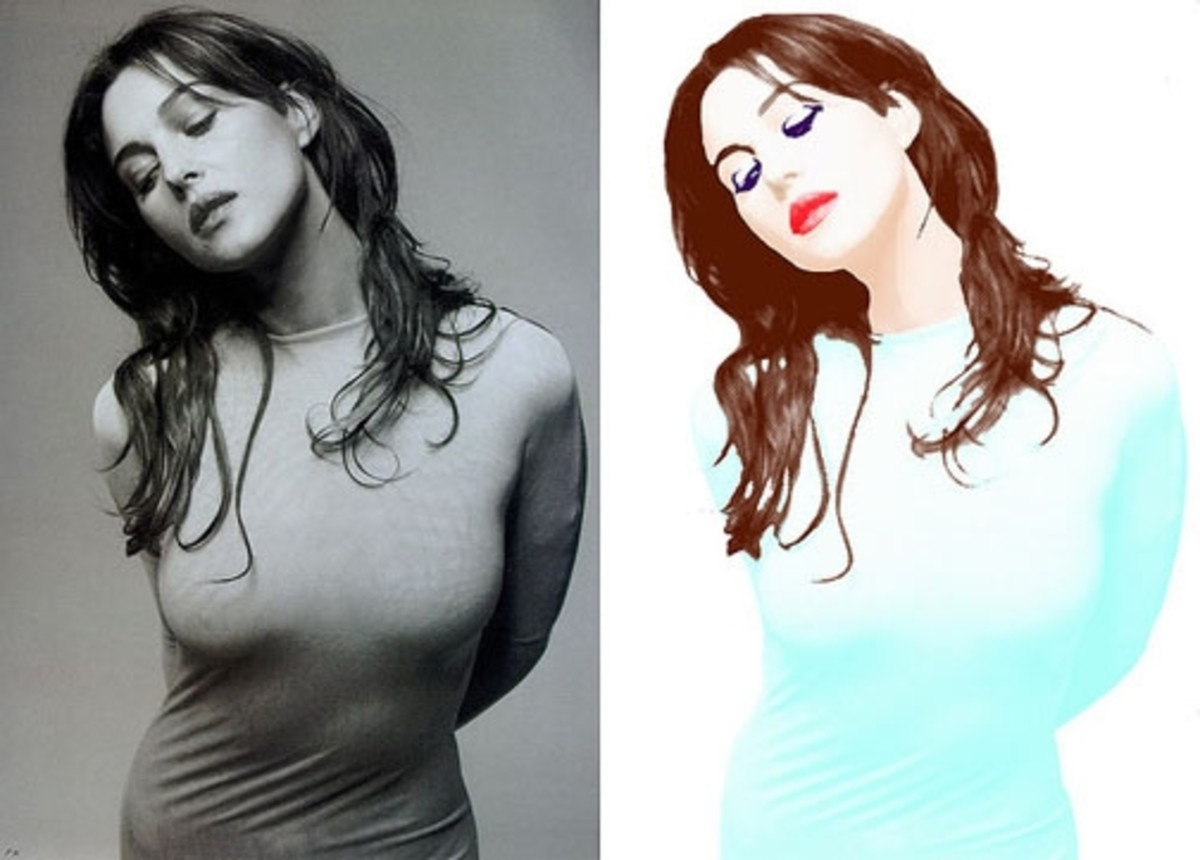 Monica Bellucci Artwork - Photo courtesy of Aileen Realeza / flickr.