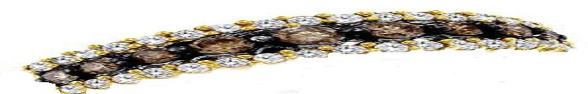 Chocolate diamonds fashioned into a bracelet.