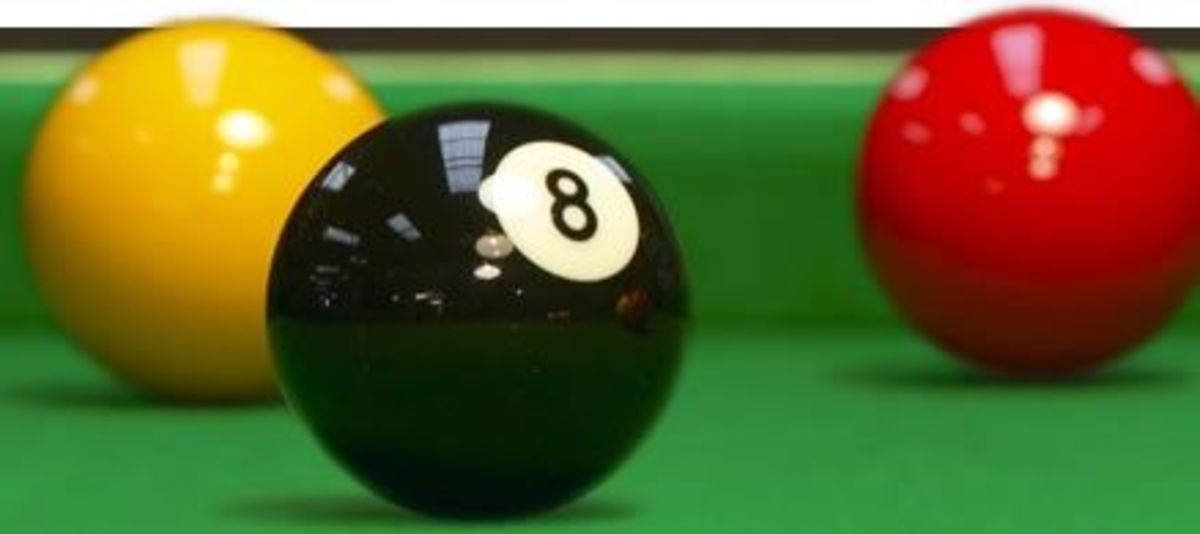 Snooker balls on a snooker table