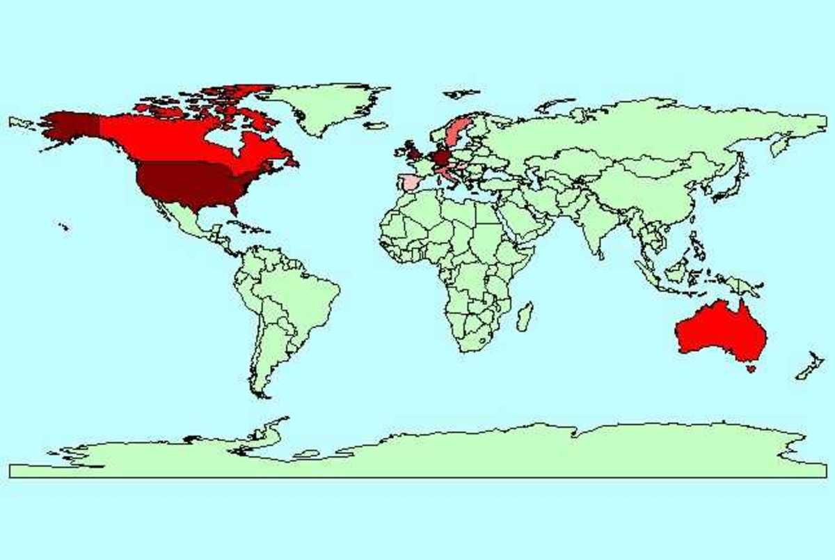 PROTESTANT NATIONS OF THE WORLD IN THE 19TH CENTURY (THE DARKER THE RED THE BETTER)
