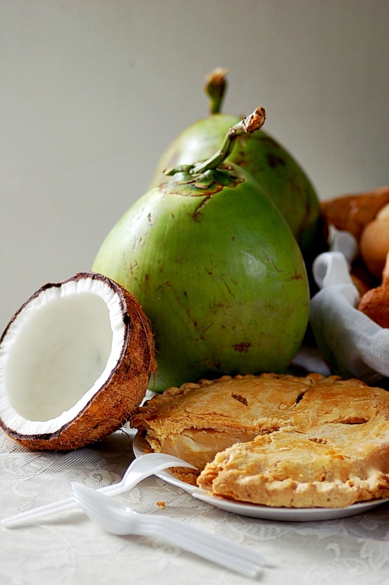 Buko Pie with Coconut Fruit