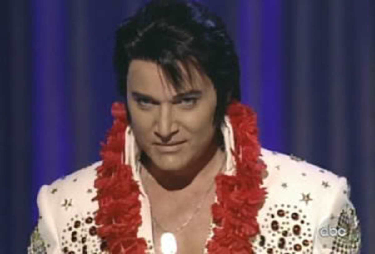 Trent Carlini as Elvis, currently performing at the LVH Shimmer Showroom.
