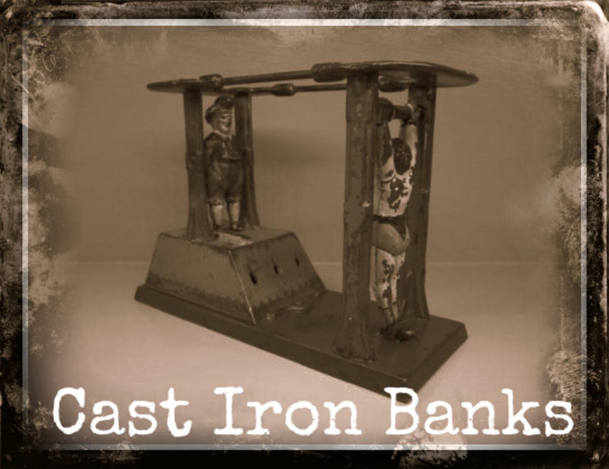 Vintage Antique Cast Iron Banks