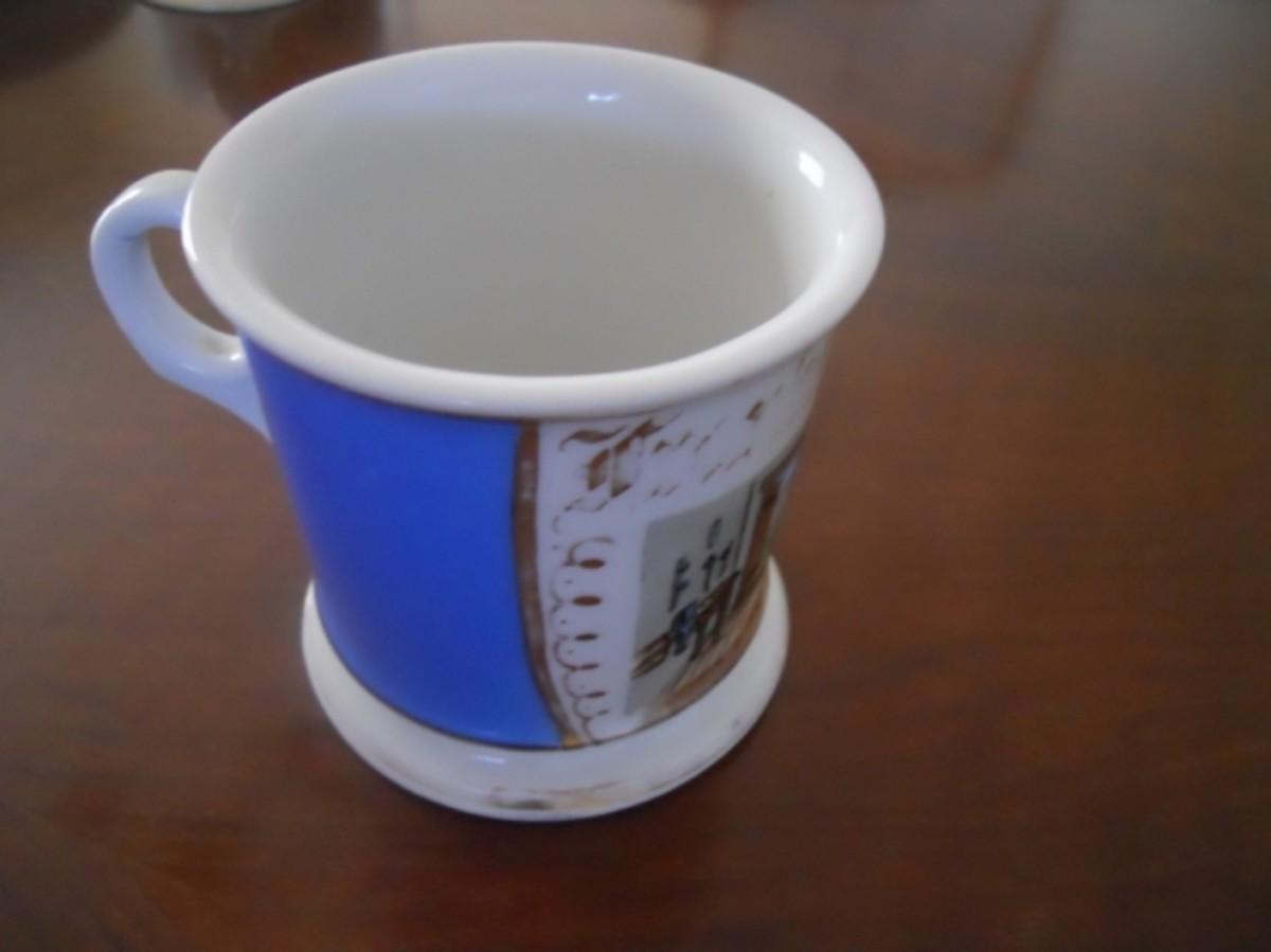 Left side of grandpa's mug
