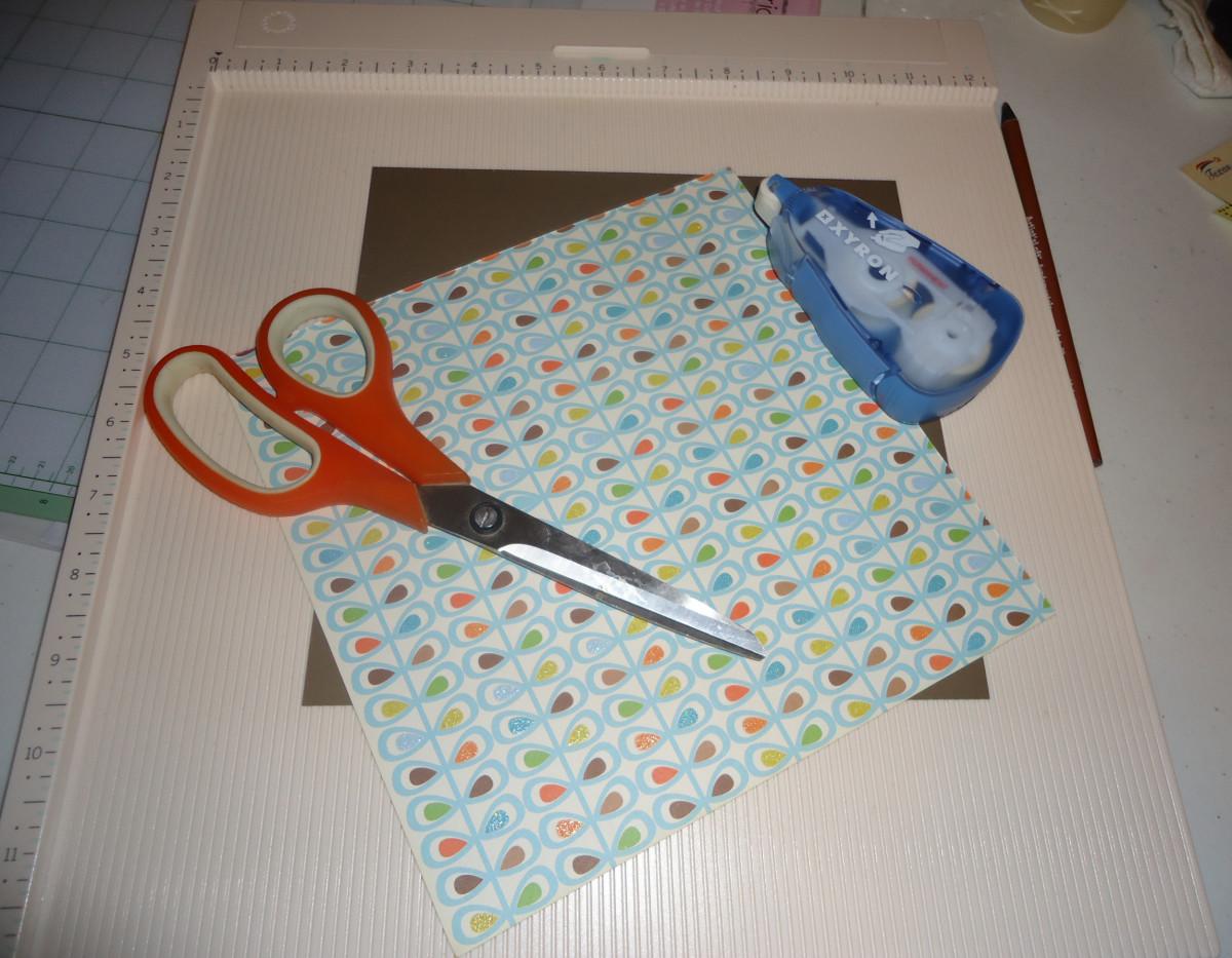 Materials you need to make a gift box