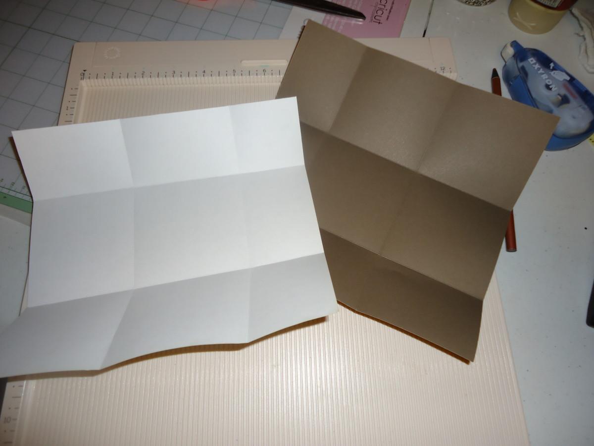 both sheets folded