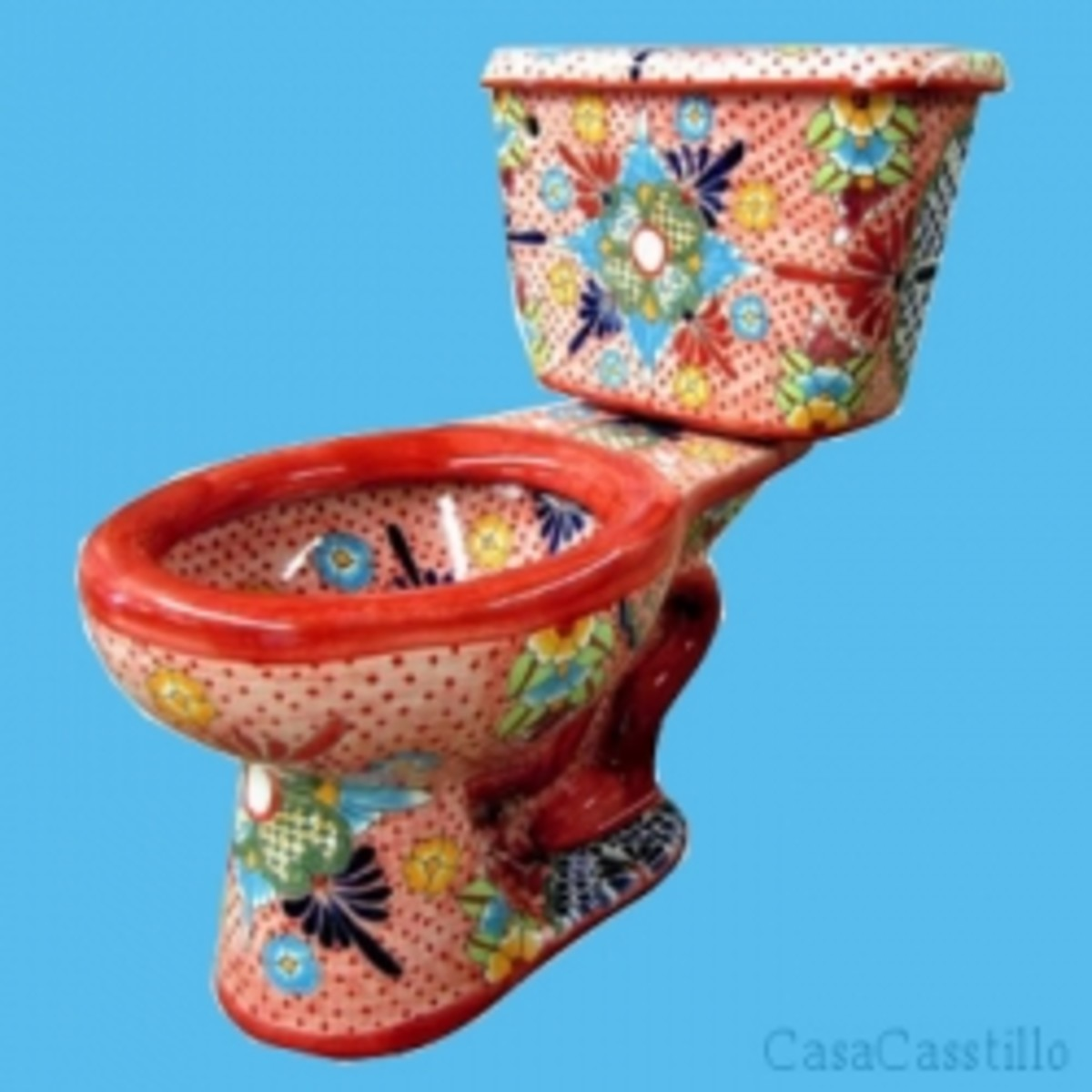 Amazing Mexican Talavera Toilets in Stunning Vibrant Colors