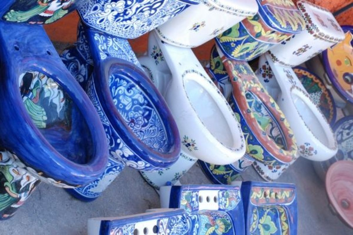Mexican Talavera Toilets For Sale