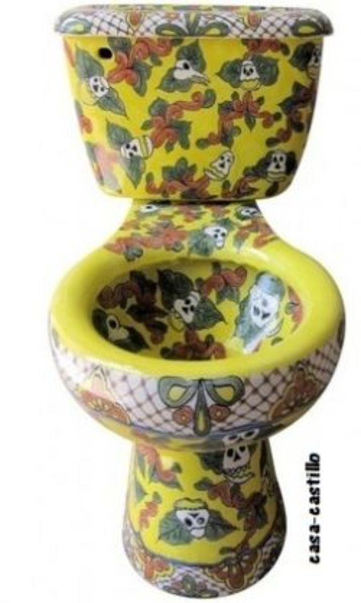 Calacas Skeleton Toilet