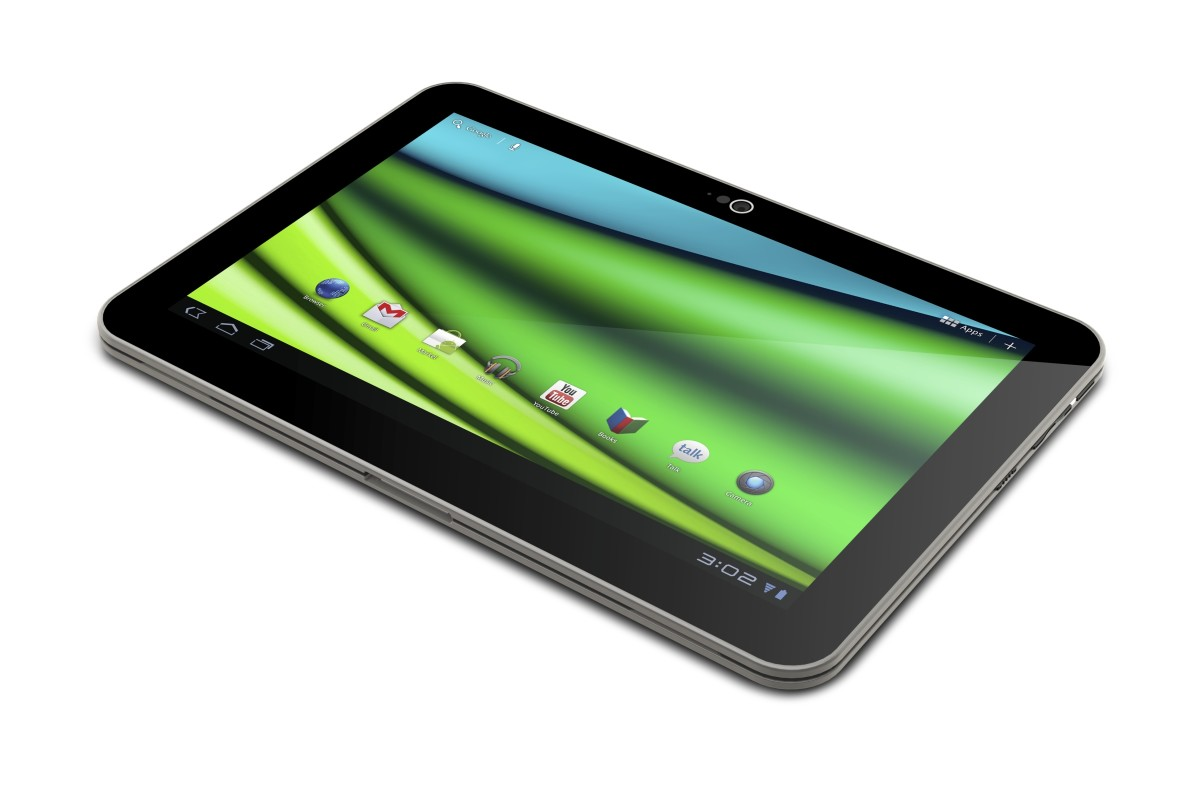 The Toshiba Excite tablet comes with a 5-megapixel rear-facing camera, and has Kaspersky antivirus software preloaded.