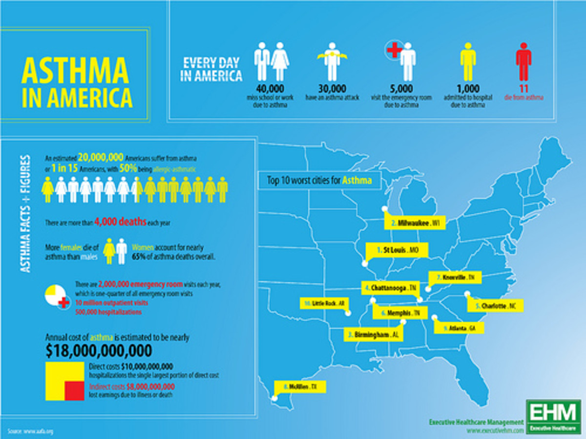 American Asthma Statistics graphic