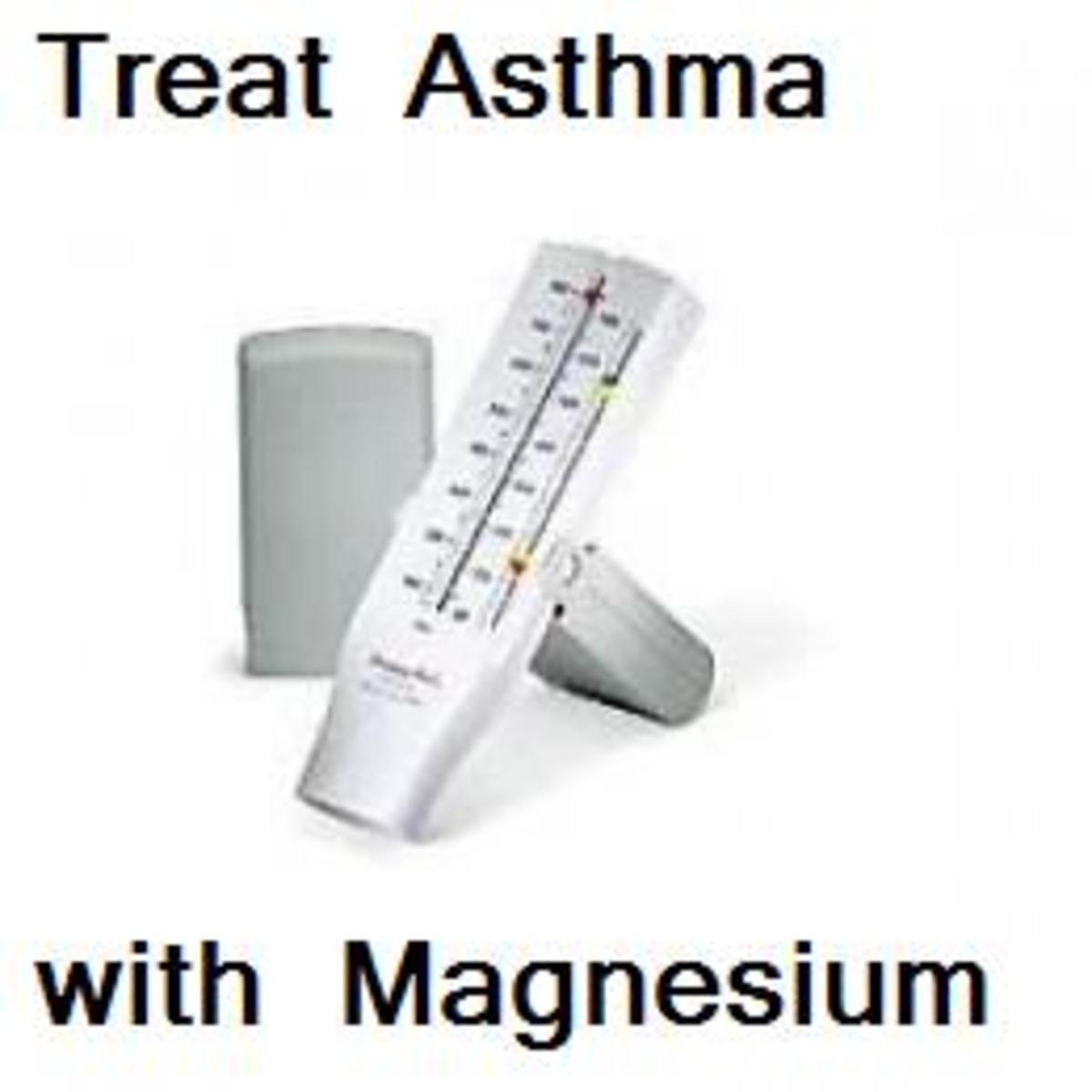 This Peak Flow Meter may give you better results when you treat your asthma with magnesium.