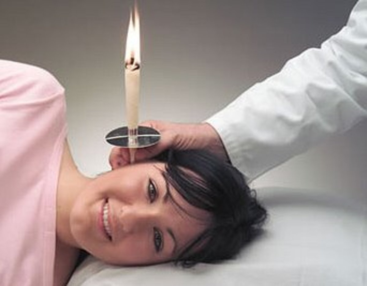 Ear candling - a natural method of improving hearing.