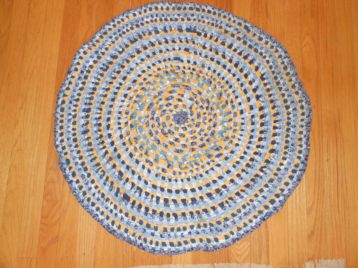Ann's Homemade Clothesline Coiled Rug