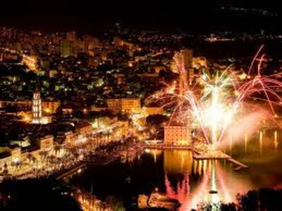 On May 7th every year, the City of Split celebrates its Patron Saint's special day.  A view of the city from Marijan Hill.