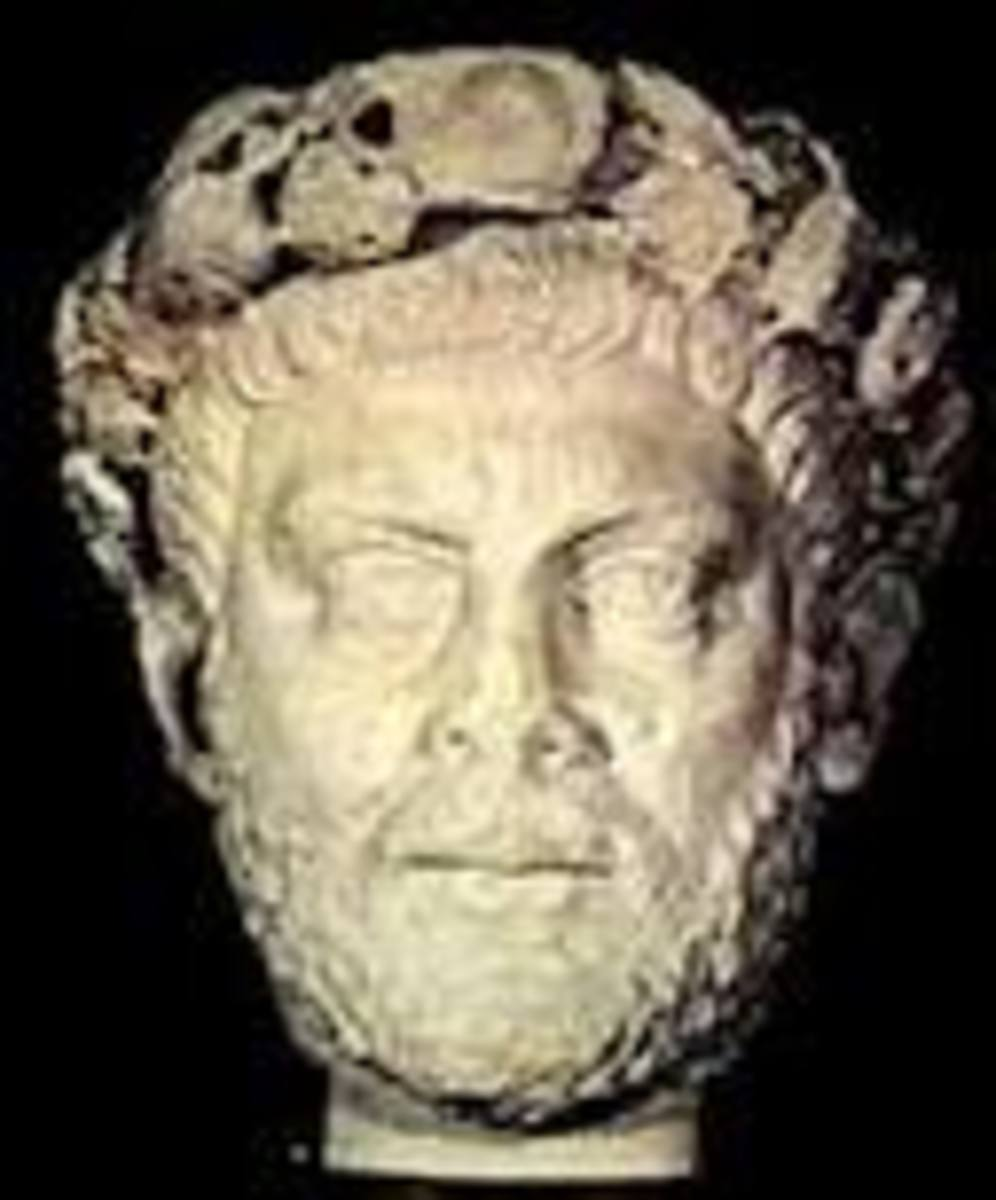One of the few remaining portraits of the Diocletian who lived from 243 to 316 A.D. by most contemporary accounts.