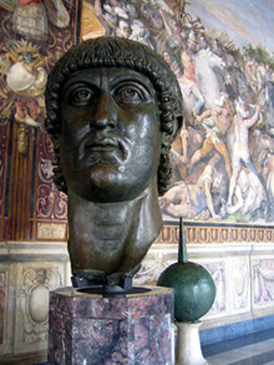 Constantin the Great, who took rule in 306 but gained full power and glory in 320 A.D.  He is known for legalizing Christianity and building the city of Constantinople.