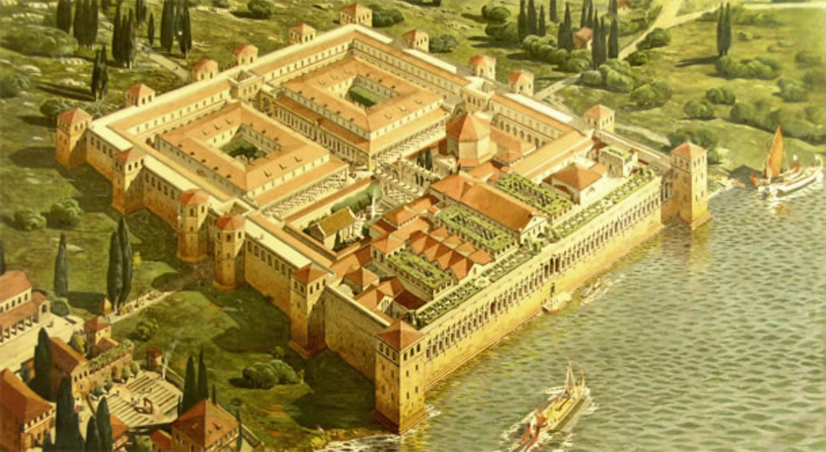 He built the rectangular shaped Palace as a retirement home, heavily fortified and containing separate sections for his army, a clothing factory, residential zone, ceremonial area and Mausoleum.