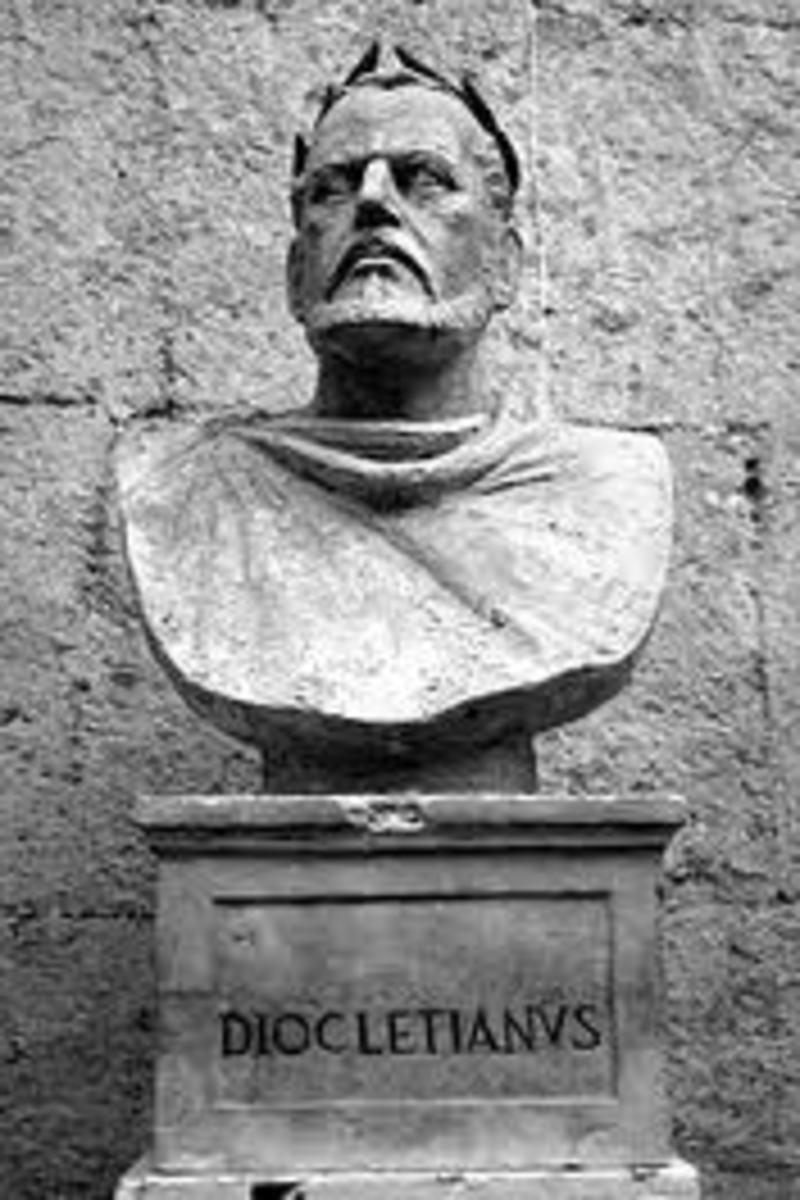 A bust of the Dioklecijan.