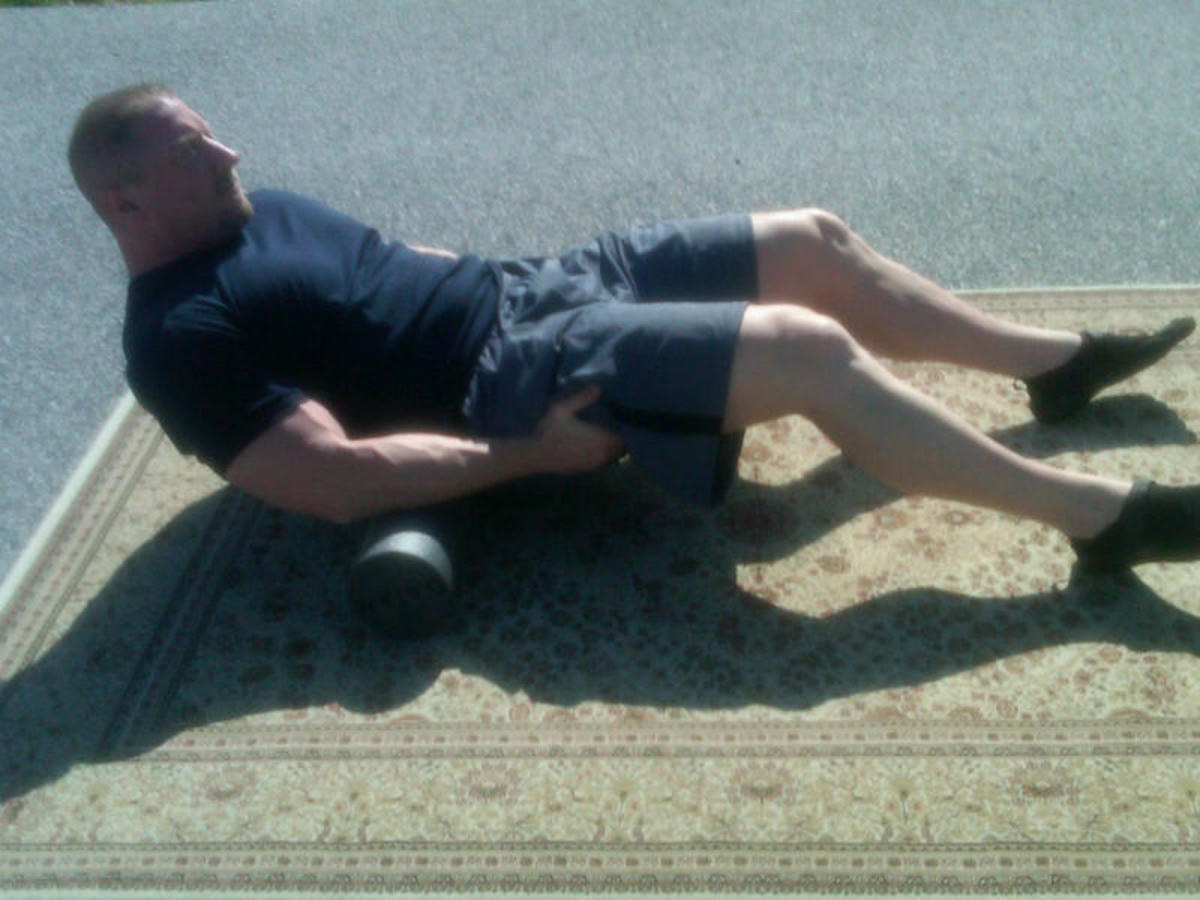 Lower lumbar to mid back roll
