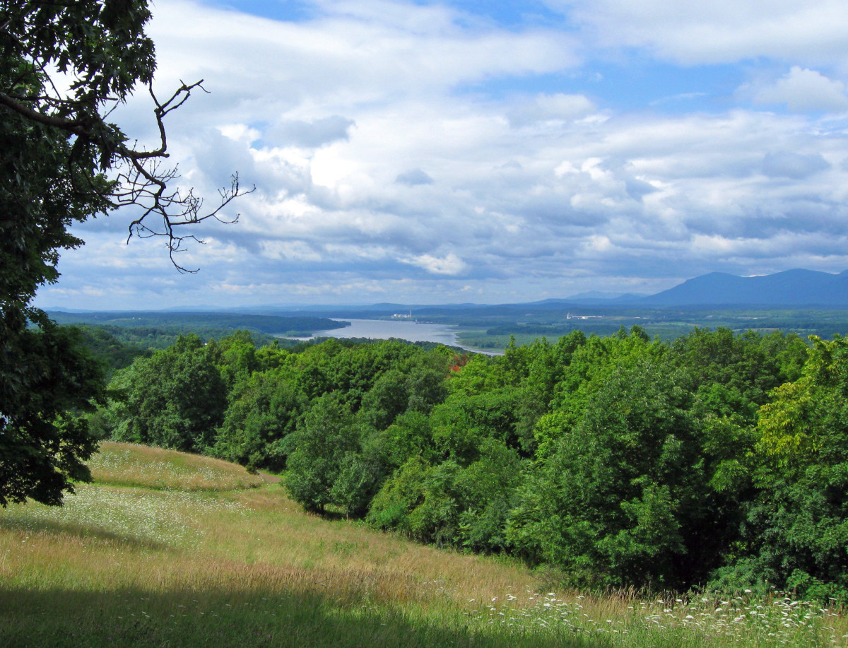"""View of Hudson River and Catskills from Olana, home of Hudson River School artist Frederick Church"" . . ."