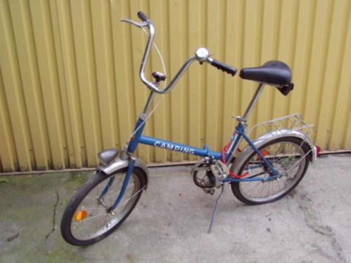 Old style Csepel Camping bike.