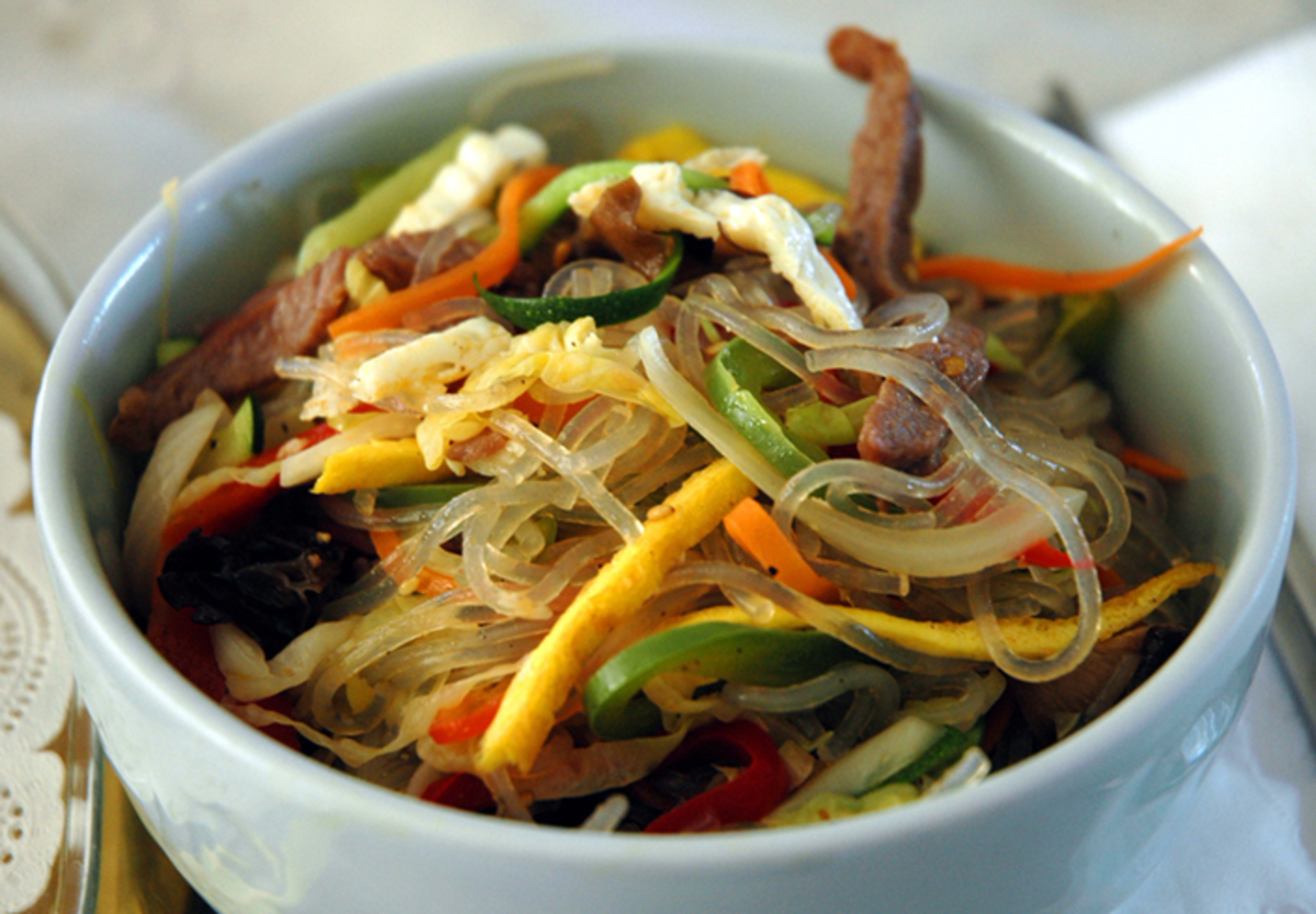 Korean Dish: Japchae