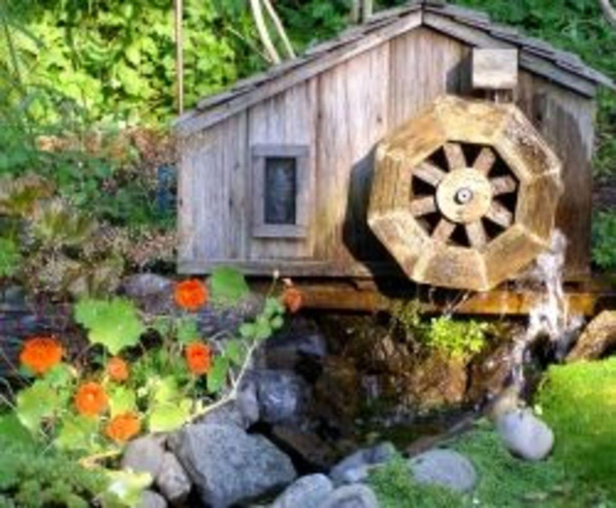 Garden Waterwheel