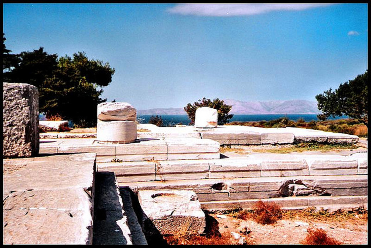 The ancient sanctuary of the goddess Nemesis at Rhamnous, in Greece