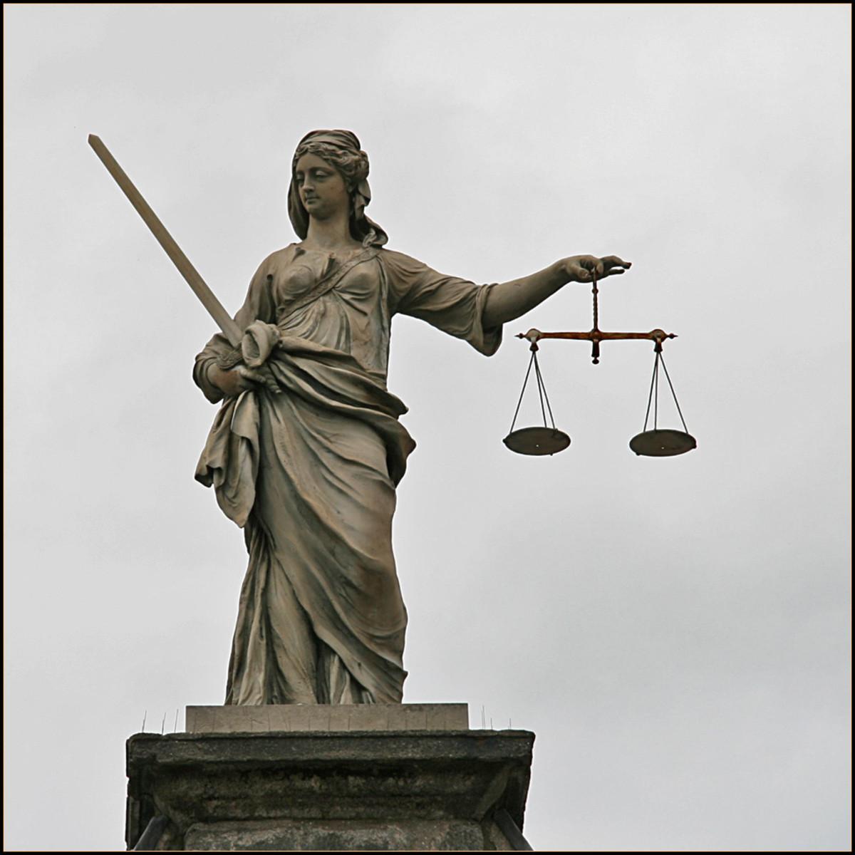 The Goddess Themis, goddess of justice, very similar to Nemesis