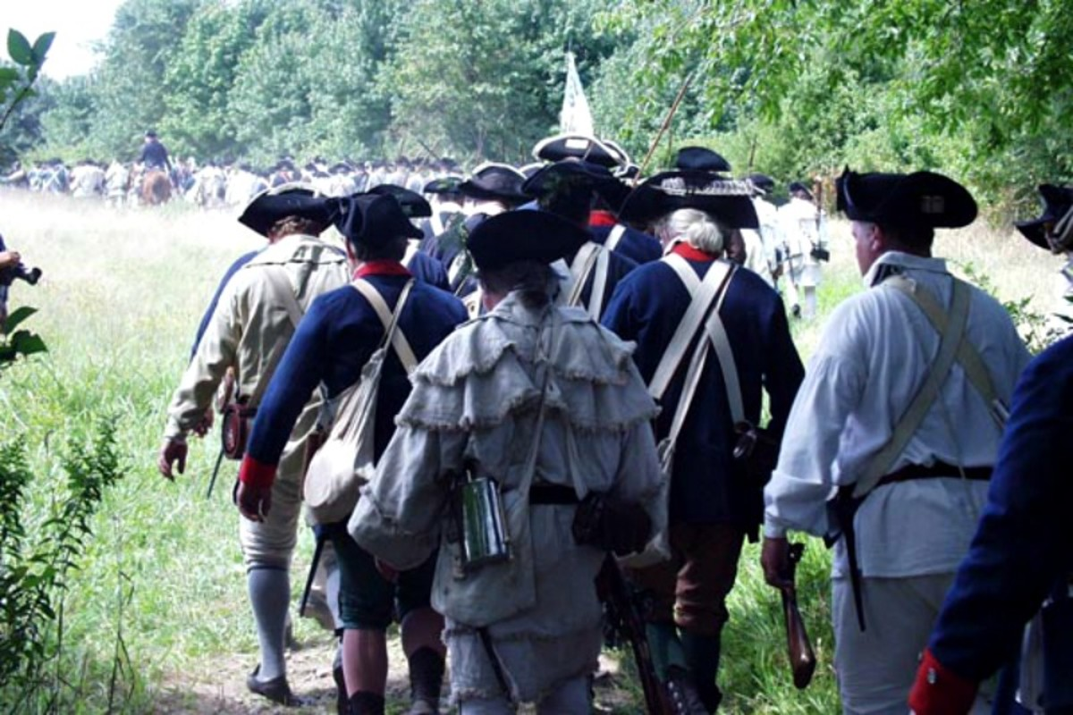 225th anniversary re-enactment of the Battle of Rhode Island 1778.