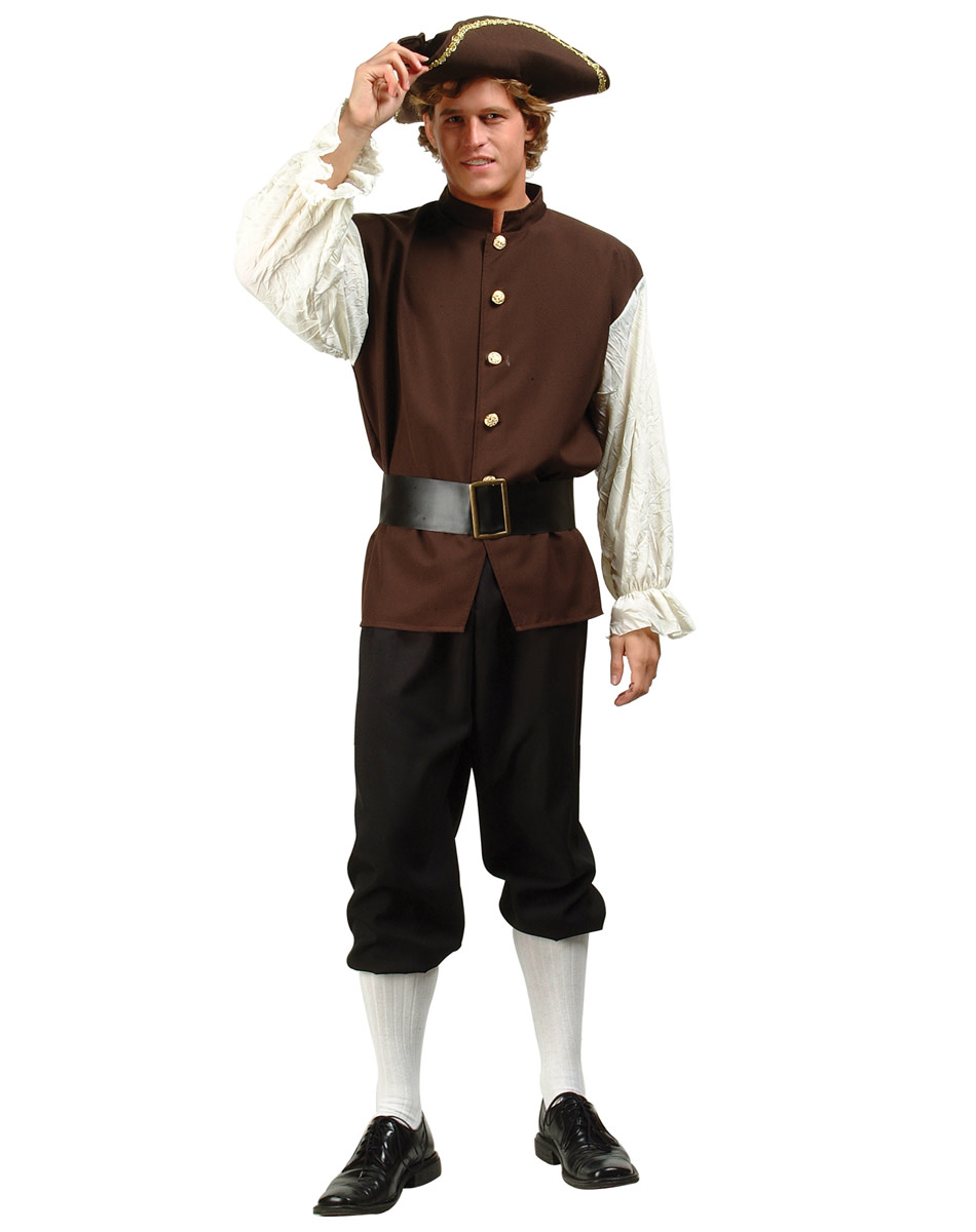Adult Men's Costume for the patriot Samuel Adams, essayist and political leader of Boston, Massachusetts, during the War of Independence.