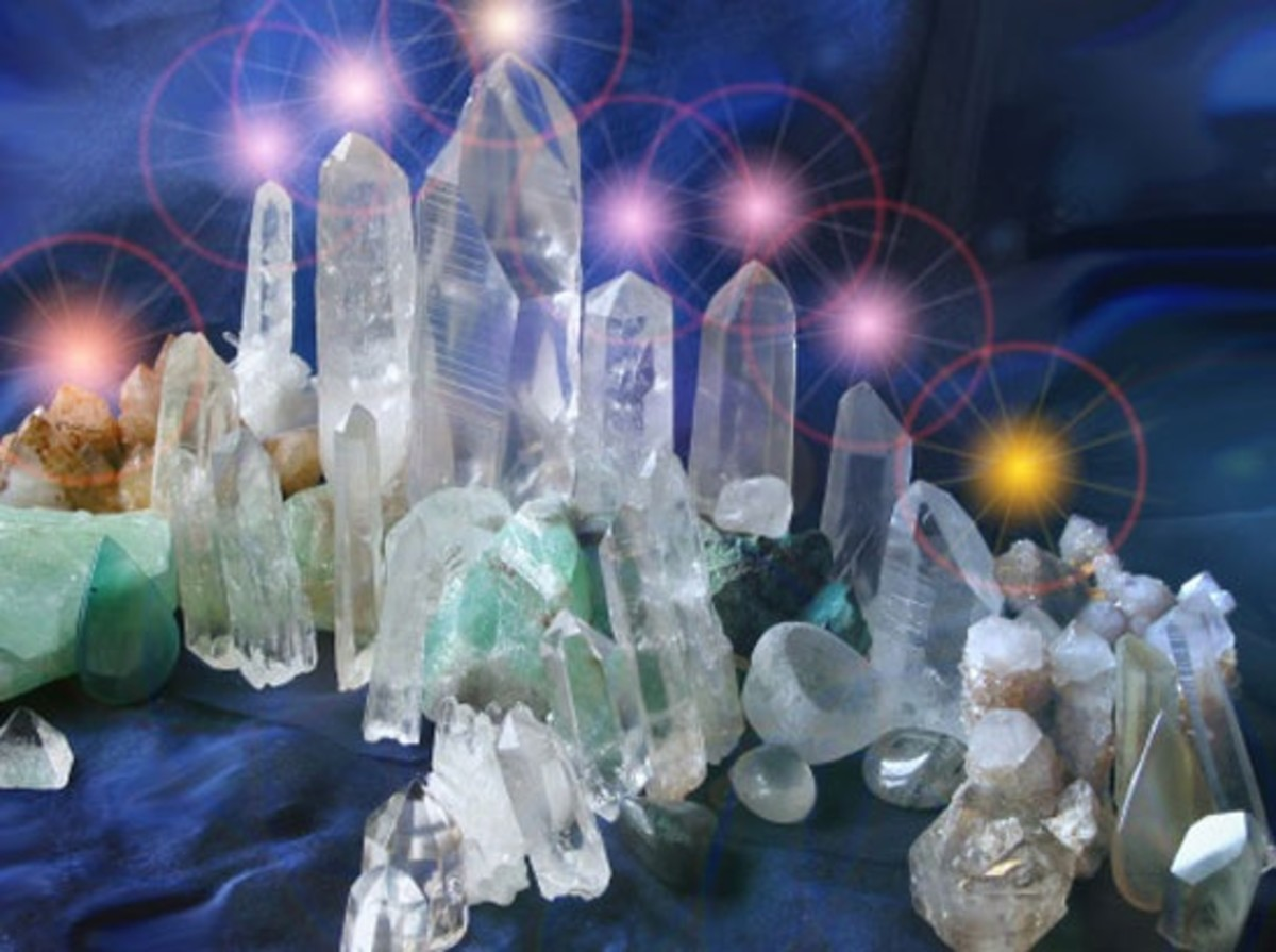 A collection of crystals can really enhance any home.